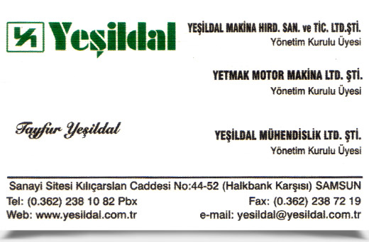 YE��LDAL MAK�NA HIRDAVAT