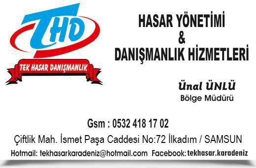 TEK HASAR Y�NET�M� & DANI�MANLIK H�ZMETLER�