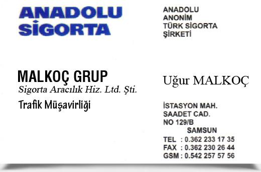 MALKOÇ GRUP SİGORTA ARACILIK HİZ. LTD. ŞTİ.