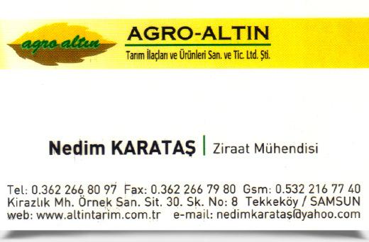 AGRO-ALTIN TARIM �LA�LARI ve �R�NLER�,SAN. ve T�C. LTD. �T�.