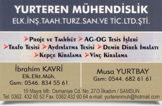 YURTEREN M�HEND�SL�K, ELK. �N�. TAAH. TURZ. SAN. VE T�C. LTD. �T�.