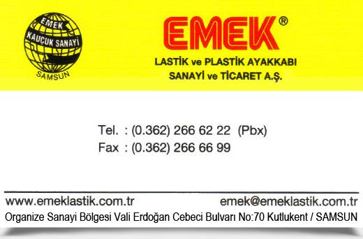 EMEK LAST�K VE PLAST�K AYAKKABI, SANAY� VE T�CARET A.�.