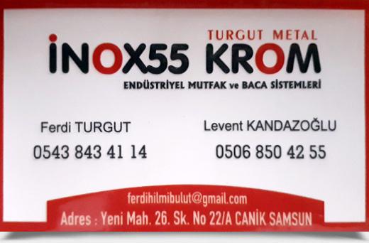 İNOX55 KROM, ENDÜSTRİYEL MUTFAK VE BACA SİSTEMLERİ