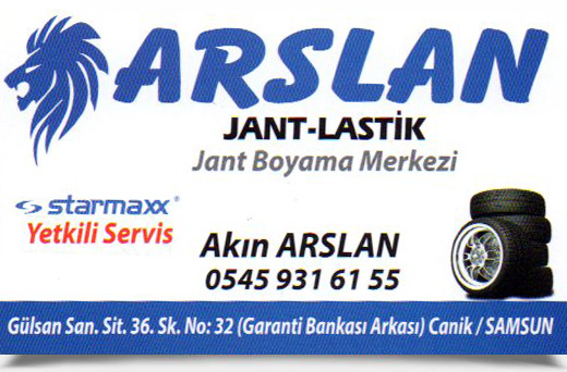 ARSLAN JANT LASTİK, JANT BOYAMA MERKEZİ