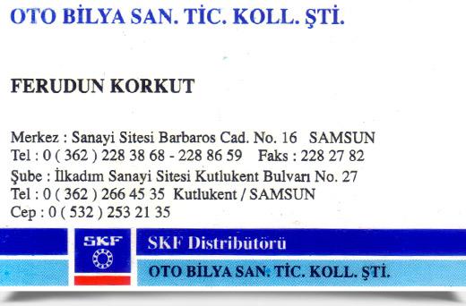 OTO BİLYA SANAYİ TİCARET KOLL. ŞTİ.