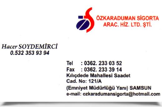 �ZKARADUMAN S�GORTA ARAC. H�Z. LTD. �T�.